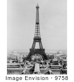 #9758 Picture of an Eiffel Tower Scene by JVPD