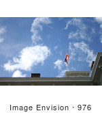 #976 Stock Photo Of An American Flag On The Roof Of The Jacksonville Museum