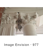 #977 Stock Photograph Of Delicate Cornices