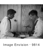 #9814 Picture Of Boys Playing Checkers