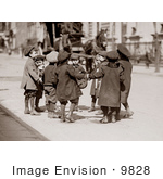 #9828 Picture of Children Playing Ring Around a Rosie by JVPD
