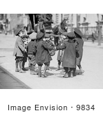 #9834 Picture of Children Playing Ring Around a Rosie by JVPD