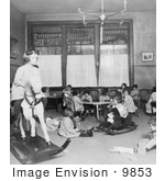 #9853 Picture of Children Playing in a Classroom by JVPD