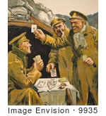 #9935 Picture Of Soldiers Playing Cards