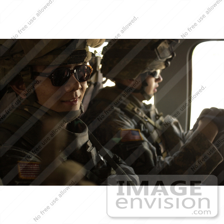 #10607 Picture of Soldiers in a Helicopter by JVPD