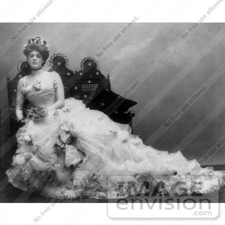 #10673 Picture of Ethel Barrymore in a Wedding Gown by JVPD