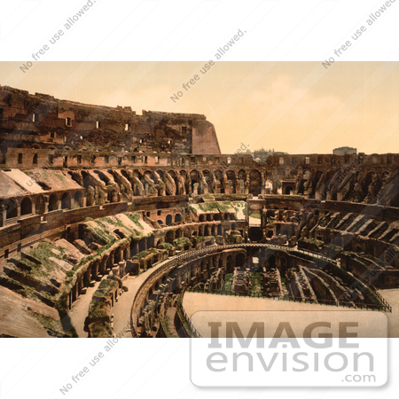 #10802 Picture of the Roman Coliseum Interior by JVPD