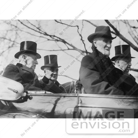 #10813 Picture of Woodrow Wilson, Warren G. Harding, Philander Knox, and Joseph Cannon by JVPD