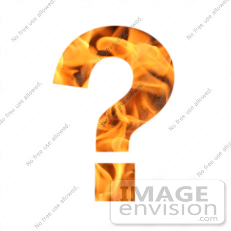 #10891 Picture of a Flaming Question Mark by Jamie Voetsch
