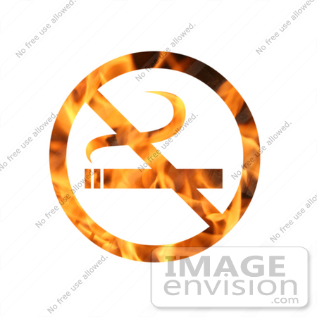 #10892 Picture of a Flaming No Smoking Sign by Jamie Voetsch