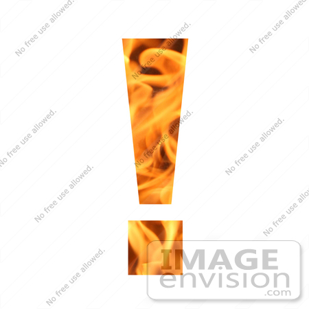 #10894 Picture of a Flaming Exclamation Point by Jamie Voetsch