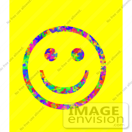 10957 Picture Of A Butterfly Patterned Smiley Face