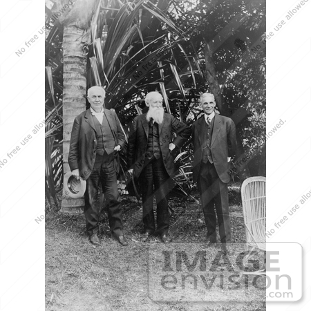 #11022 Picture of Thomas Edison, John Burroughs, and Henry Ford by JVPD