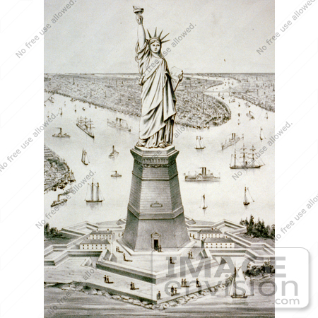 #11158 Picture of the Statue of Liberty, Liberty Enlightening the World by JVPD