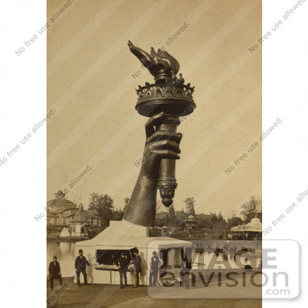 #11182 Picture of the Hand and Torch of Statue of Liberty by JVPD