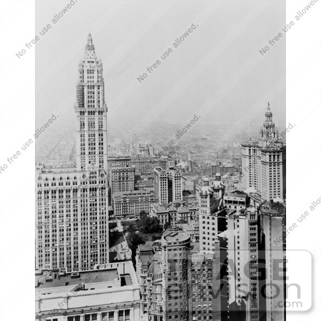 #11204 Picture of the Woolworth Building in Manhattan by JVPD