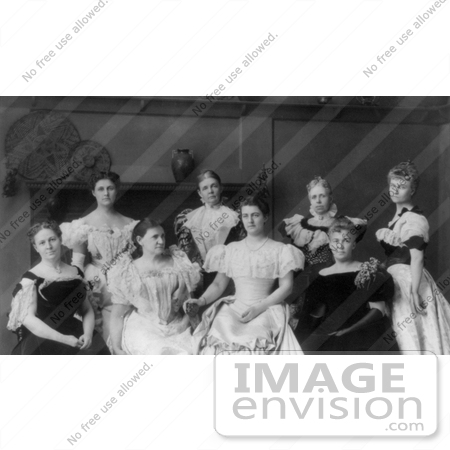 #11233 Picture of Ladies of the Cabinet in 1897 by JVPD