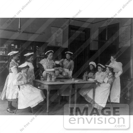 #11287 Picture of a Cooking Class in 1899 by JVPD