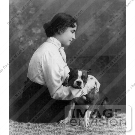 #11296 Picture of Helen Keller With a Dog by JVPD