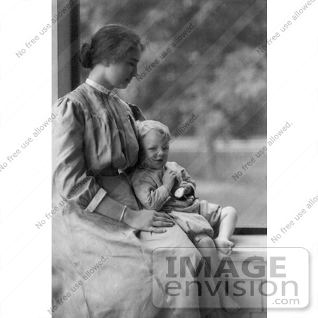 #11297 Picture of Helen Keller With a Little Boy by JVPD