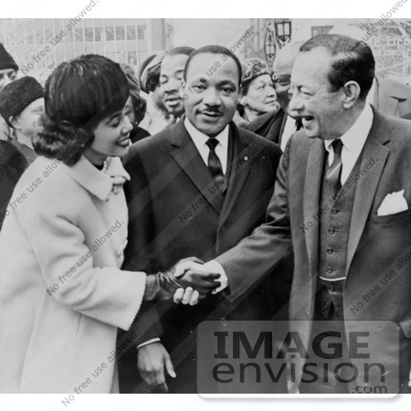 #11311 Picture of Martin Luther and Coretta King With Robert Wagner by JVPD