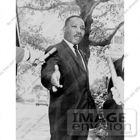 #11313 Picture of MLK Speaking to the Press by JVPD