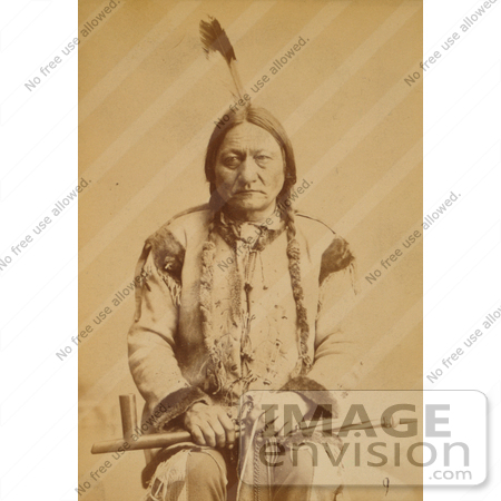 #11340 Picture of Sitting Bull With Peace Pipe by JVPD