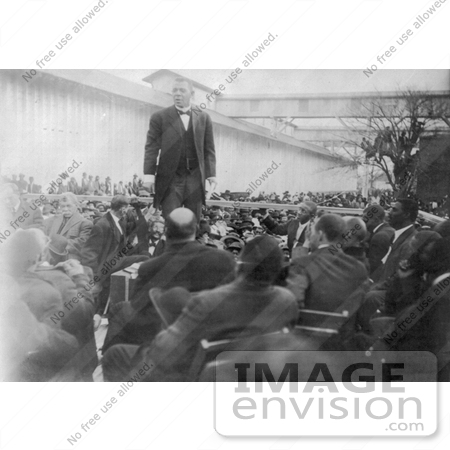 #11381 Picture of Booker T Washington Giving a Speech by JVPD