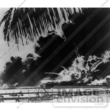 #11403 Picture of an Explosion During the Attack on Pearl Harbor by JVPD