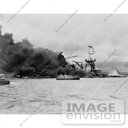 #11411 Picture of the USS Arizona Wreckage by JVPD
