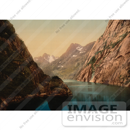 #11492 Picture of a Waterscape, Troldfjord, Raftsund, Lofoten, Norway by JVPD
