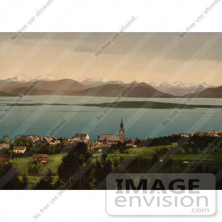 #11513 Picture of a Church and Buildings, Molde, Norway by JVPD