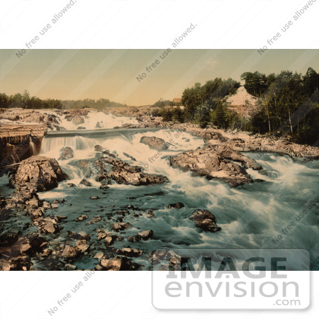 #11571 Picture of Waterfalls and Rapids, Honefos, Ringerike, Norway by JVPD