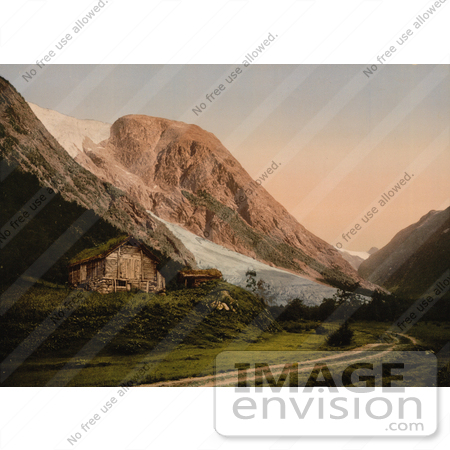 #11578 Picture of a Home by a Glacier, Sognefjord, Norway by JVPD
