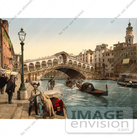 #11652 Picture of Rialto Bridge, Venice, Italy by JVPD