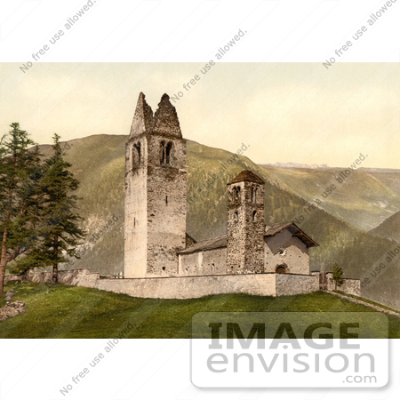 #11723 Picture of an Old Church, Celerina, Schlarigna, Switzerland by JVPD