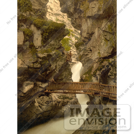#11780 Picture of a Wood Path Through a Gorge, Switzerland by JVPD