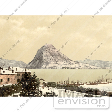 #11805 Picture of a Winter Scene on Lake Lugano, Switzerland by JVPD