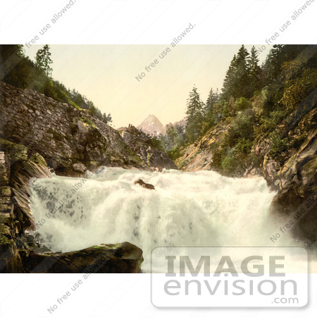 #11950 Picture of  a Waterfall in the Swiss Alps by JVPD