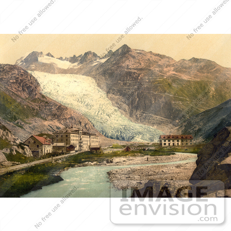 #11973 Picture of Glacier Hotel and Rhone Glacier by JVPD