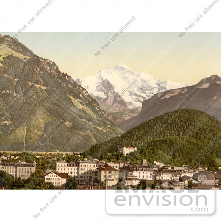 #11997 Picture of Interlaken and Jungfrau in Switzerland by JVPD
