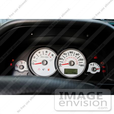 #12105 Picture of an Illuminated Vehicle Dashboard by Jamie Voetsch