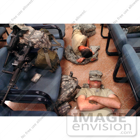 #12232 Picture of Army Soldiers Sleeping on teh Floor by JVPD