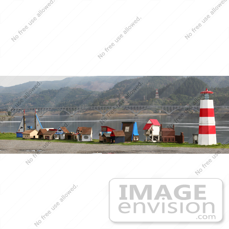 #1226 Photo of Outdoor Cat Houses at the Cat Jetty in Gold Beach, Oregon by Kenny Adams