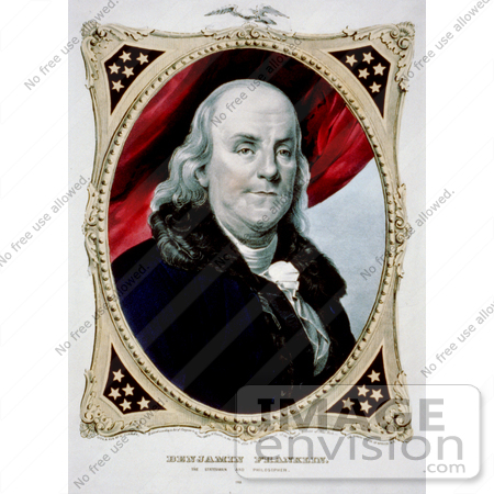 #12281 Picture of a Benjamin Franklin Portrait by JVPD