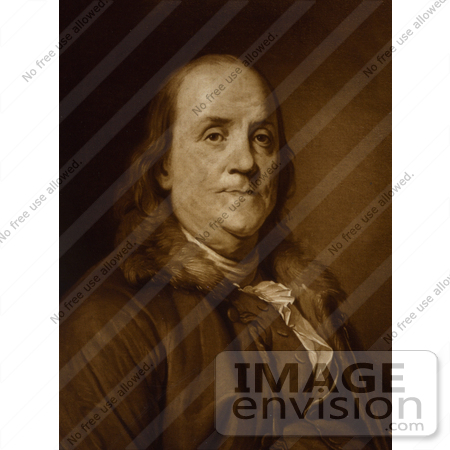 #12291 Picture of Inventor, Scientist and Diplomat Benjamin Franklin by JVPD
