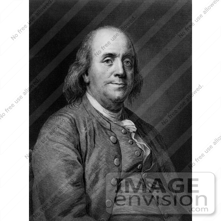 #12292 Picture of a Portrait of Benjamin Franklin by JVPD