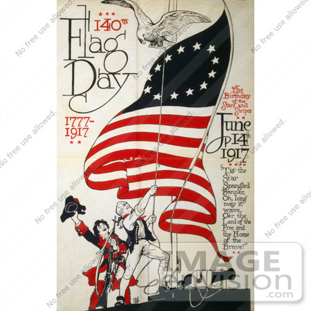#12349 Picture of American Flag Day in 1917 by JVPD