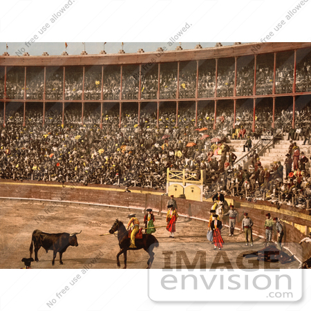 #12351 Picture of a Bullfight in Barcelona by JVPD
