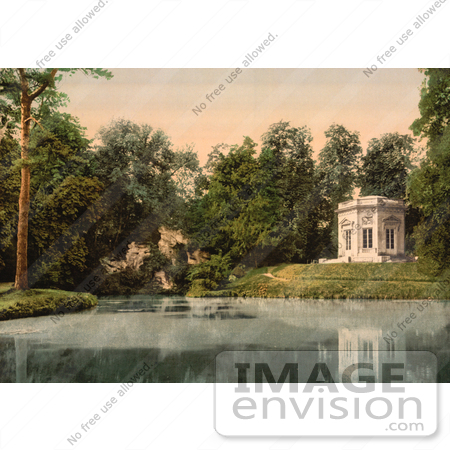 #12368 Picture of Pavillion and Rock of Marie Antoinette at Petit Trianon by JVPD